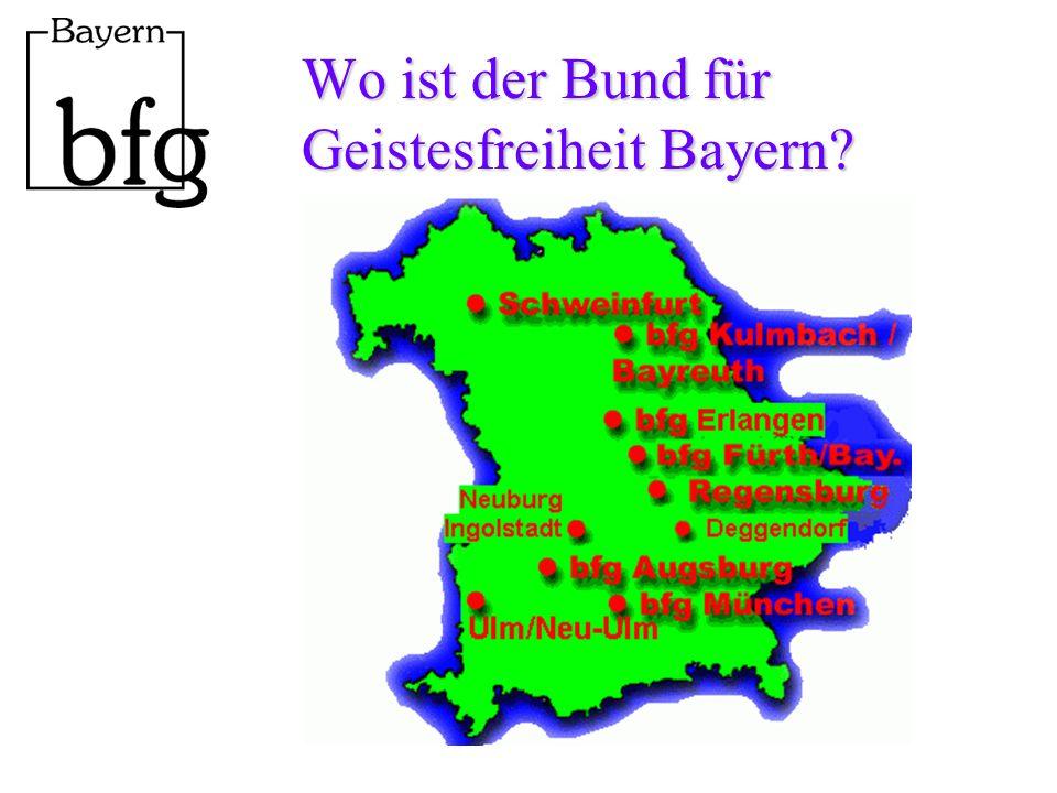 Wo ist der Bund für Geistesfreiheit Bayern?
