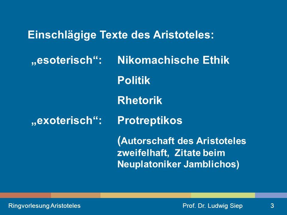 Ringvorlesung AristotelesProf.Dr.