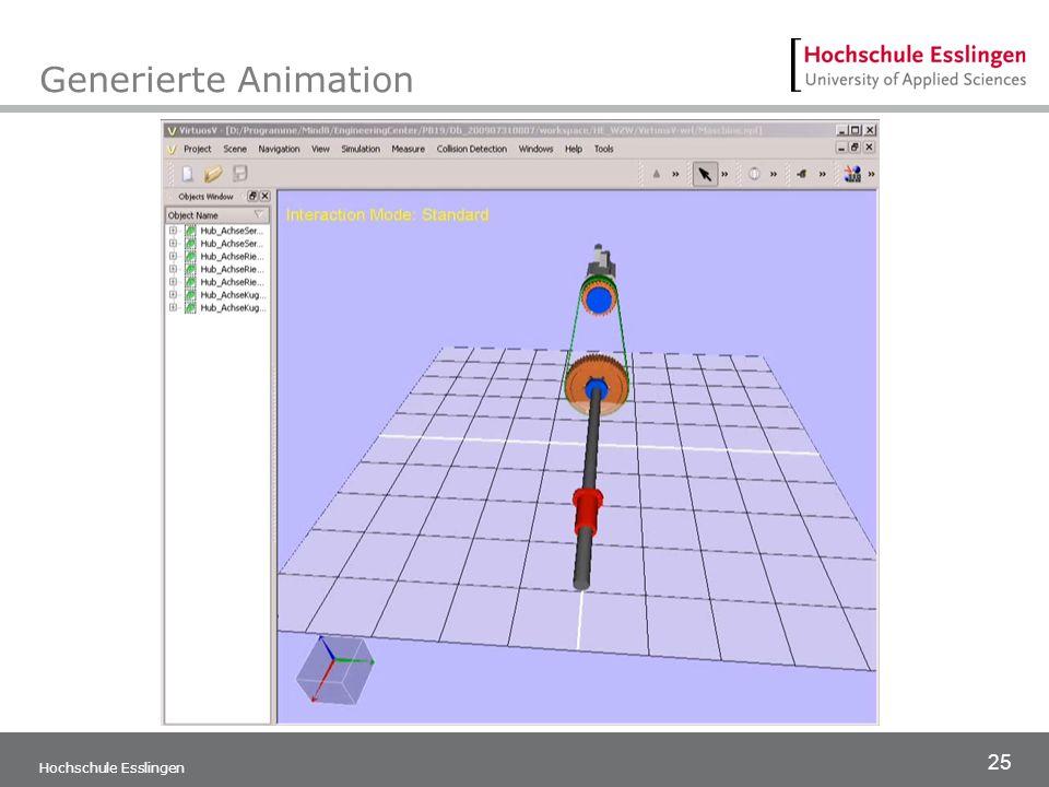 25 Generierte Animation Hochschule Esslingen