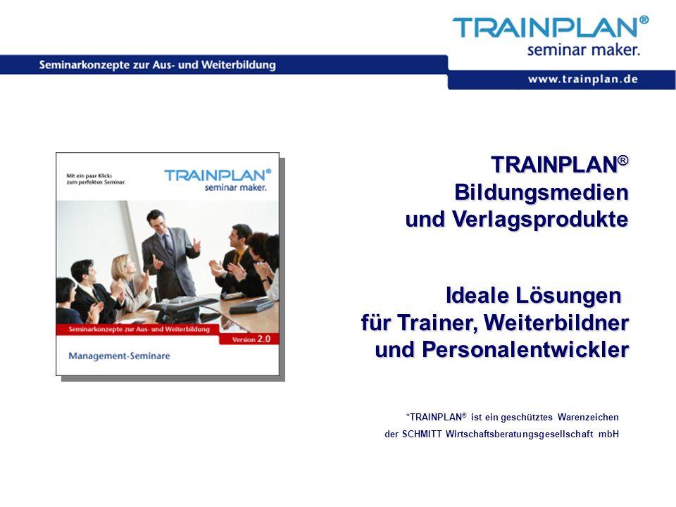 Folie 1 ©TRAINPLAN ® 2006 TRAINPLAN ® Bildungsmedien und Verlagsprodukte *TRAINPLAN ® ist ein geschütztes Warenzeichen der SCHMITT Wirtschaftsberatung