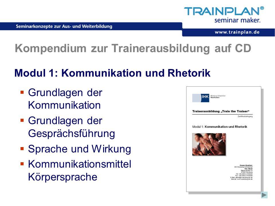 Folie 35 ©TRAINPLAN ® 2006 Kompendium zur Trainerausbildung auf CD Modul 1: Kommunikation und Rhetorik Grundlagen der Kommunikation Grundlagen der Ges