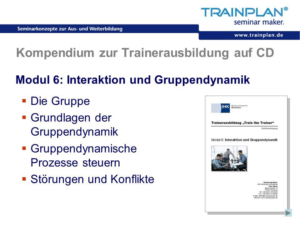 Folie 40 ©TRAINPLAN ® 2006 Kompendium zur Trainerausbildung auf CD Modul 6: Interaktion und Gruppendynamik Die Gruppe Grundlagen der Gruppendynamik Gr