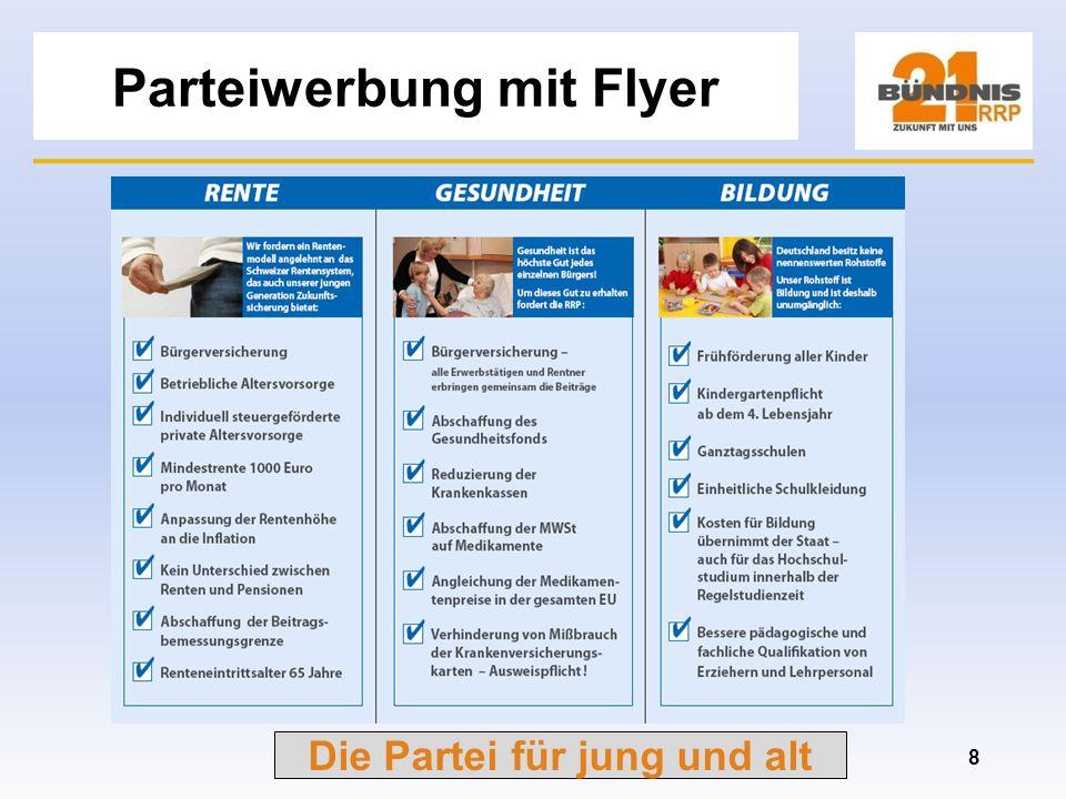 Die Partei für jung und alt Das Schweizer Rentenmodell Dr. Geisler (CDU) Zitat: Das Schweizer Modell bedeutet Alle zahlen von Allem für Alle! d.h. auc