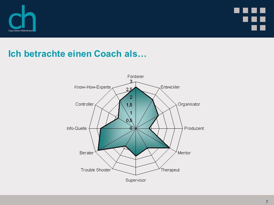 7 Ich betrachte einen Coach als…