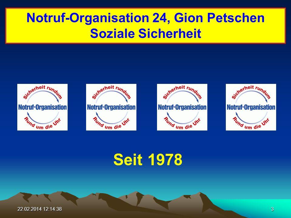 22.02.2014 12:16:163 Notruf-Organisation 24, Gion Petschen Soziale Sicherheit Seit 1978