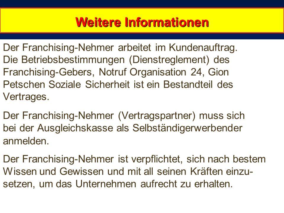 22.02.2014 12:16:1630 Weitere Informationen Weitere Informationen Der Franchising-Nehmer arbeitet im Kundenauftrag.