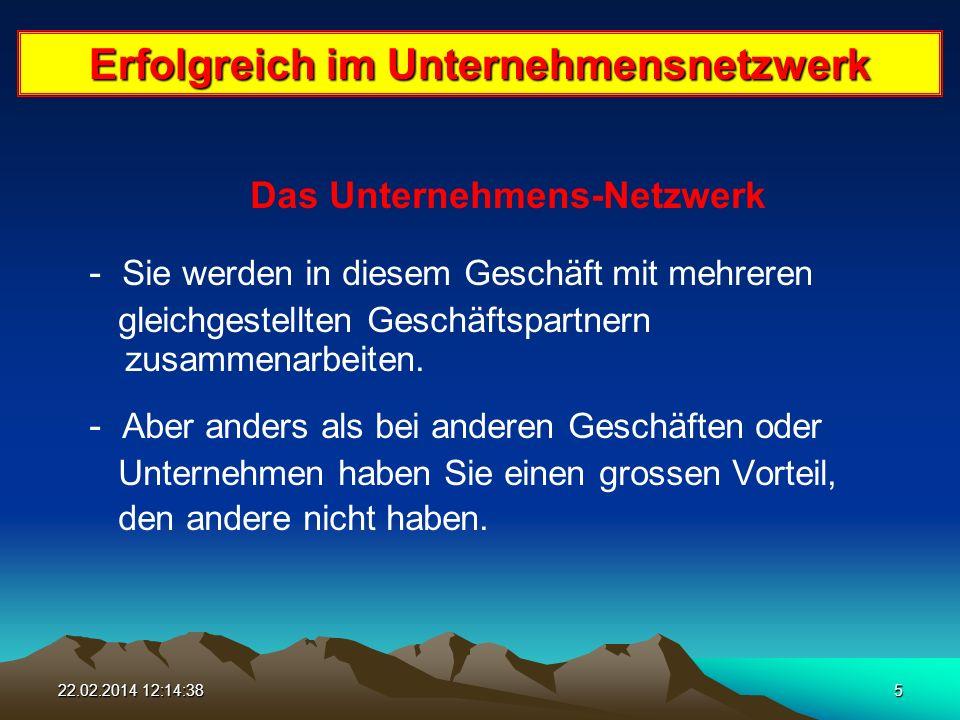 22.02.2014 12:16:165 Erfolgreich im Unternehmensnetzwerk Das Unternehmens-Netzwerk - Sie werden in diesem Geschäft mit mehreren gleichgestellten Geschäftspartnern zusammenarbeiten.