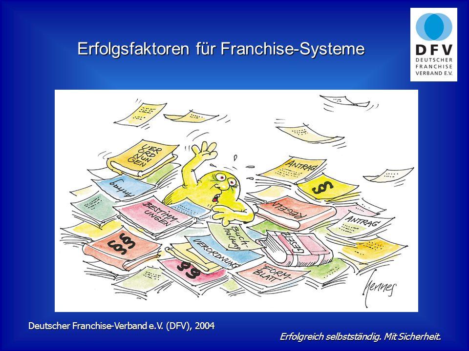 Erfolgsfaktoren für Franchise-Systeme Deutscher Franchise-Verband e.V.