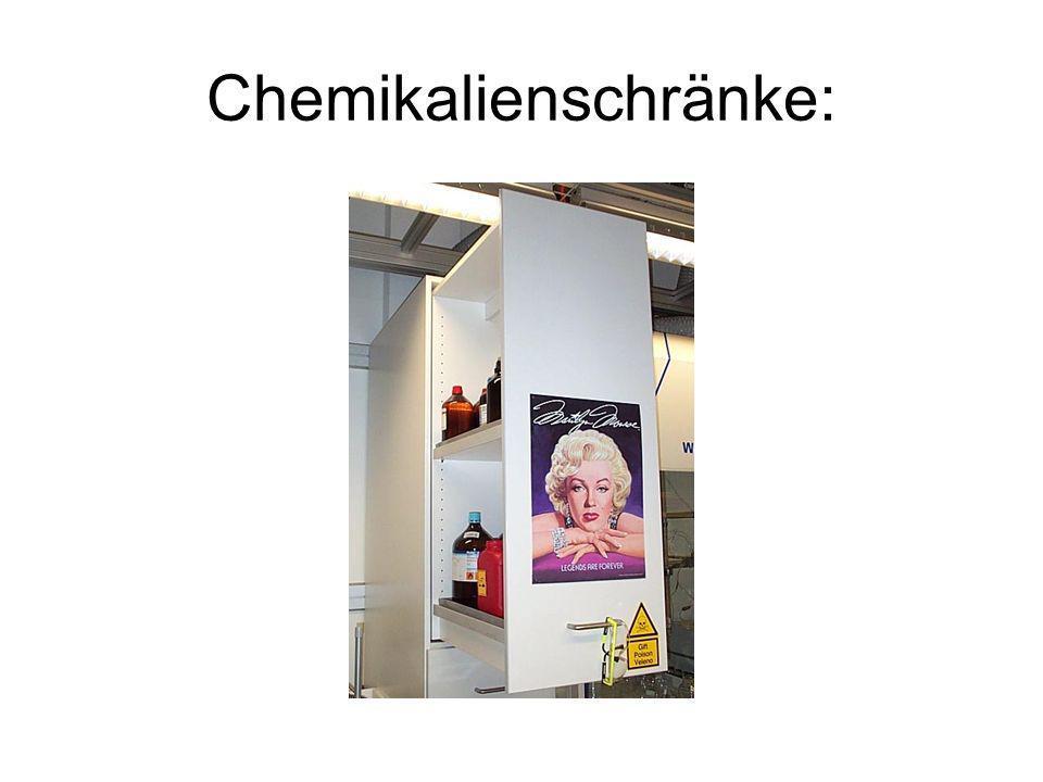Chemikalienschränke: