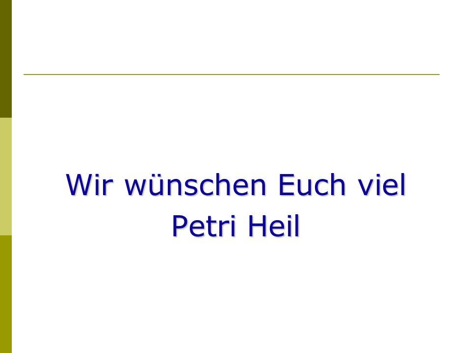 Wir wünschen Euch viel Petri Heil