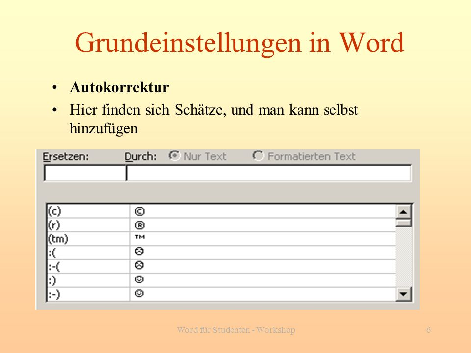 Word für Studenten - Workshop37 Ende