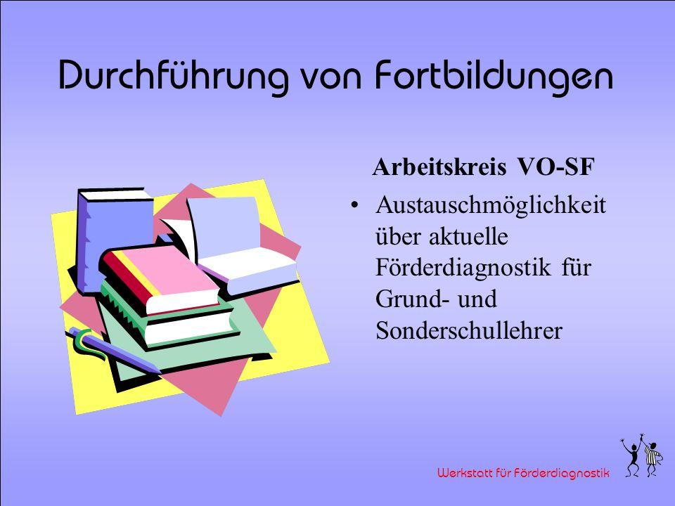 Werkstatt für Förderdiagnostik Durchführung von Fortbildungen Ein pädagogischer Tag mit Maria Montessori Einführung in die Theorie und das Sinnesmater