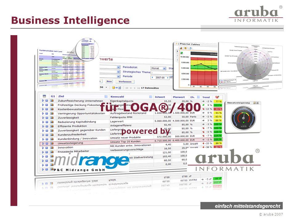 einfach mittelstandsgerecht © aruba 2007 für LOGA®/400 powered by Business Intelligence
