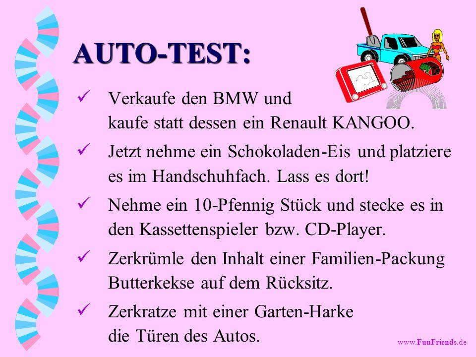 www.FunFriends.de AUTO-TEST: Verkaufe den BMW und kaufe statt dessen ein Renault KANGOO.