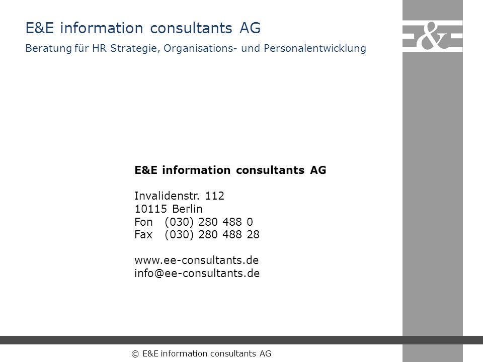 © E&E information consultants AG E&E information consultants AG Invalidenstr. 112 10115 Berlin Fon(030) 280 488 0 Fax(030) 280 488 28 www.ee-consultan