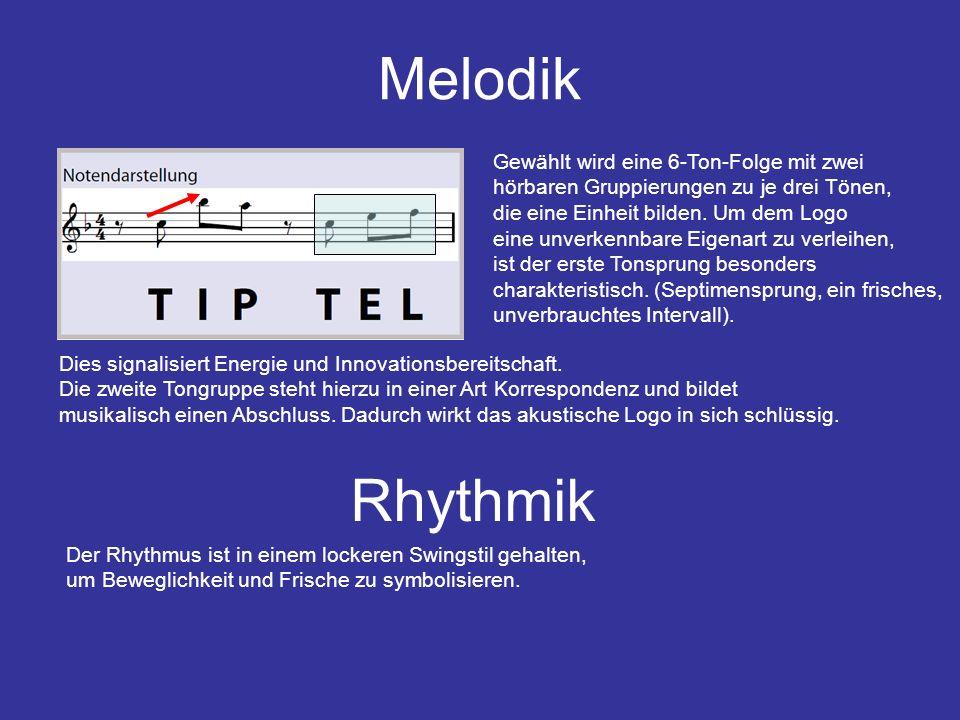 Analyse Das Wort TIPTEL hat zwei Silben und 6 Buchstaben, dabei geht die zweite Silbe in der Sprachmelodik leicht abwärts.