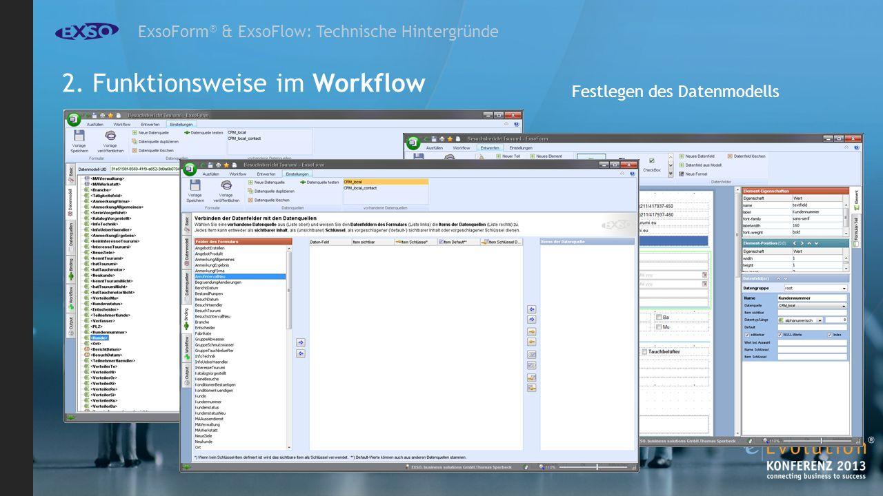 ExsoForm ® & ExsoFlow: Technische Hintergründe Festlegen des Datenmodells 2.