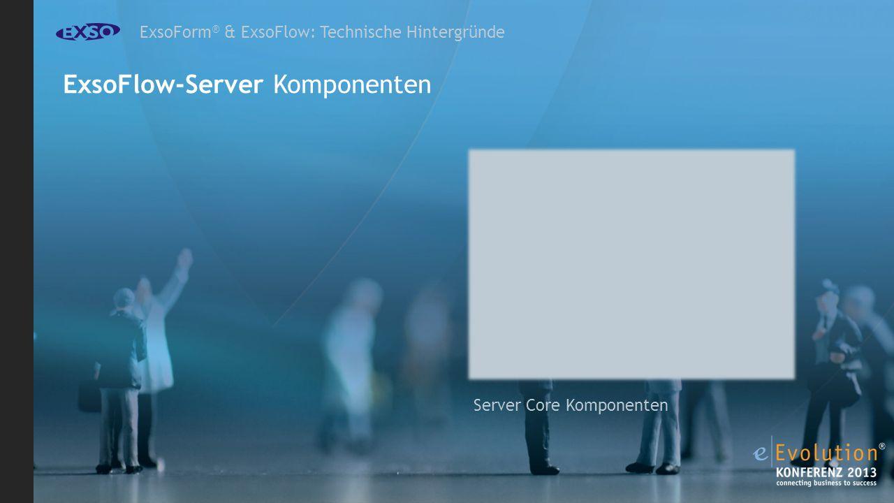 ExsoForm ® & ExsoFlow: Technische Hintergründe ExsoFlow-Server Komponenten Server Core Komponenten