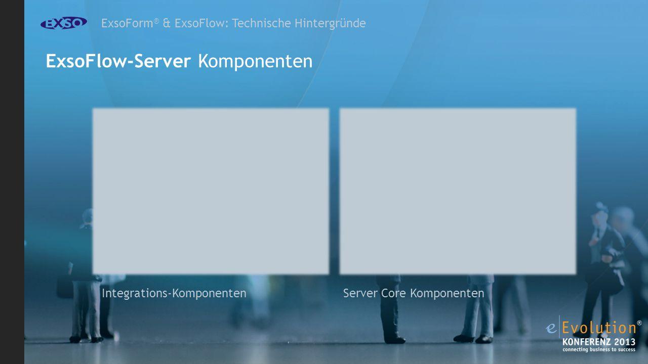 ExsoForm ® & ExsoFlow: Technische Hintergründe ExsoFlow-Server Komponenten Server Core Komponenten Integrations-Komponenten