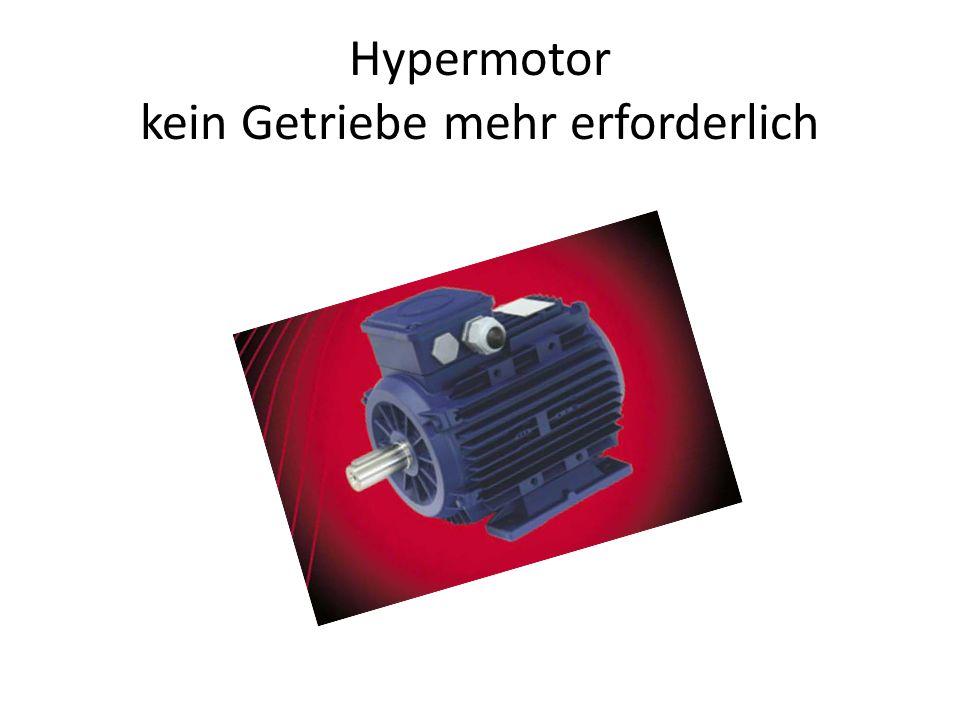 Hypermotor kein Getriebe mehr erforderlich