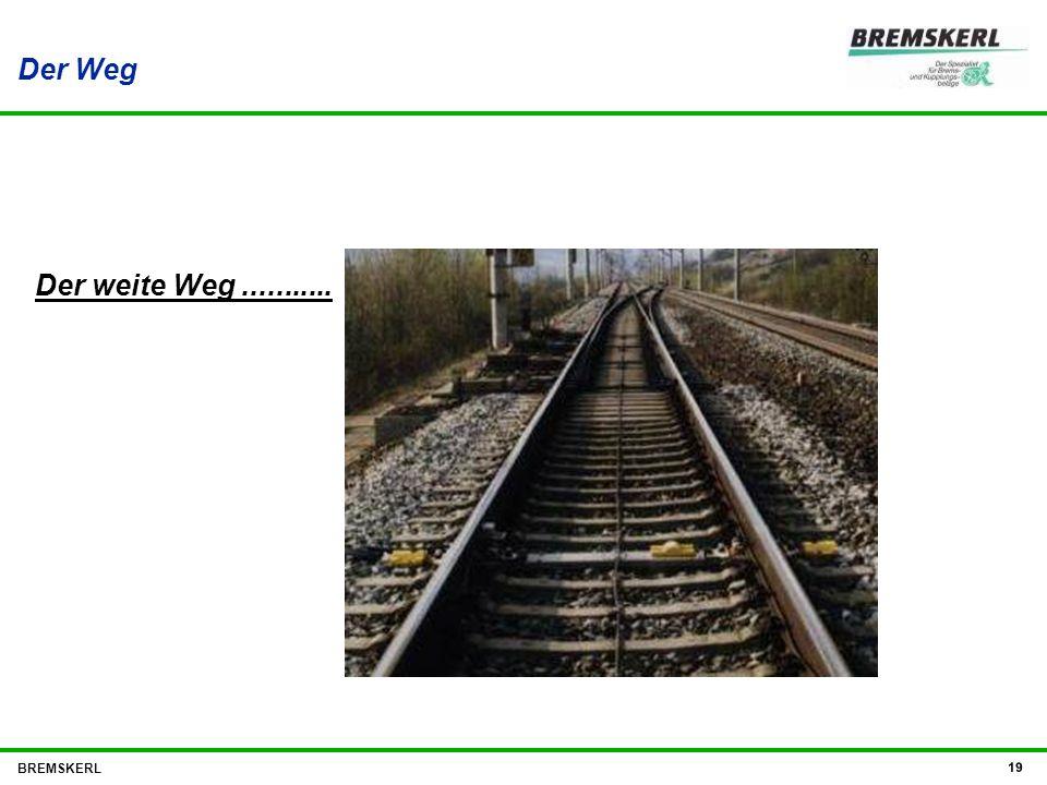 Der Weg BREMSKERL 19 Der weite Weg...........