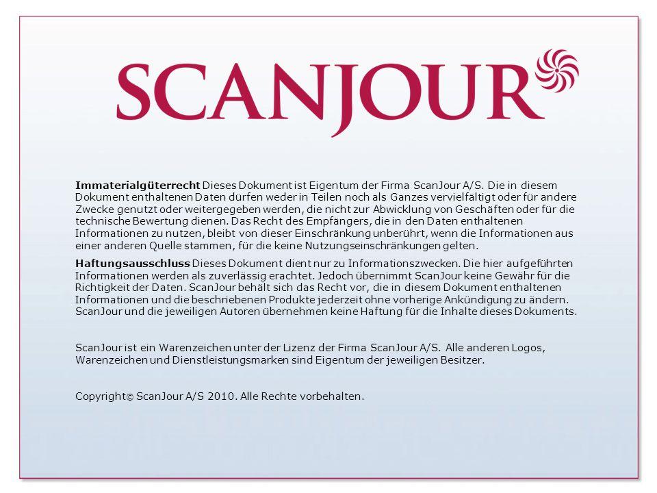 Page 30 · www.scanjour.dk Immaterialgüterrecht Dieses Dokument ist Eigentum der Firma ScanJour A/S. Die in diesem Dokument enthaltenen Daten dürfen we