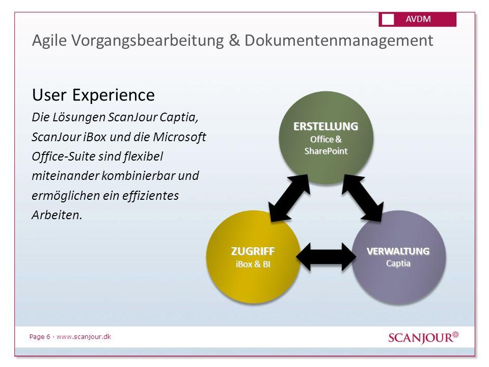 Page 6 · www.scanjour.dk Agile Vorgangsbearbeitung & Dokumentenmanagement User Experience Die Lösungen ScanJour Captia, ScanJour iBox und die Microsof