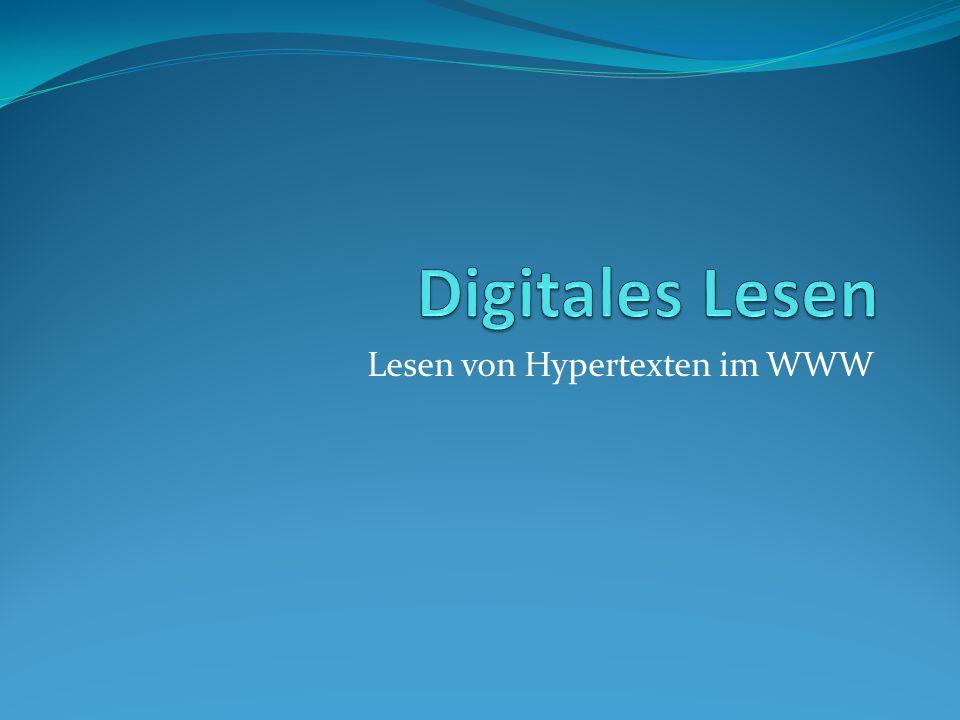 Lesen von Hypertexten im WWW