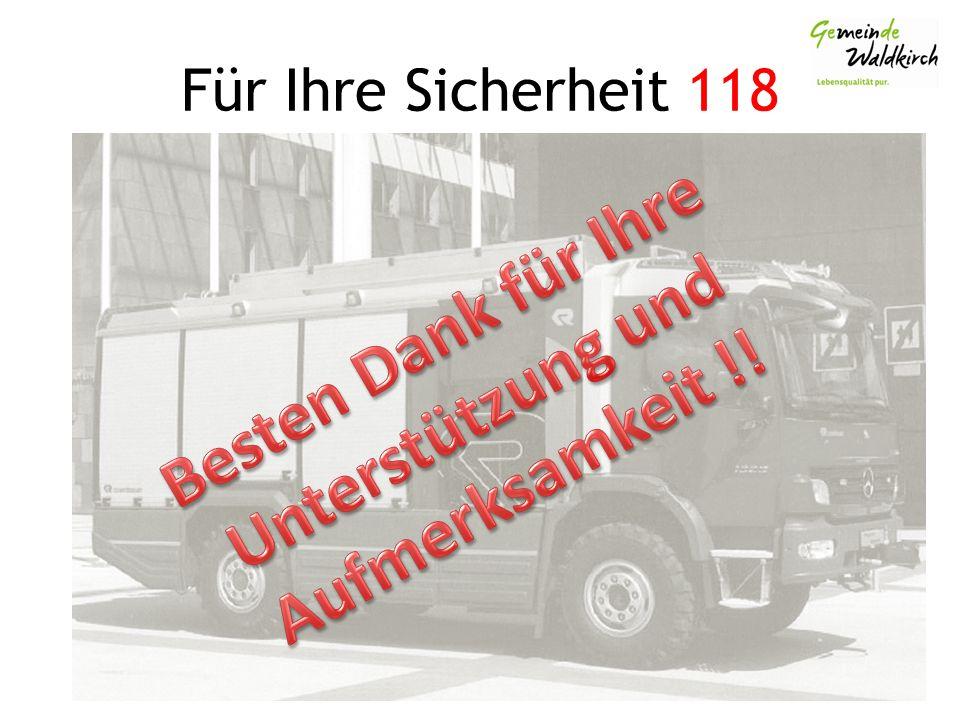 Für Ihre Sicherheit 118