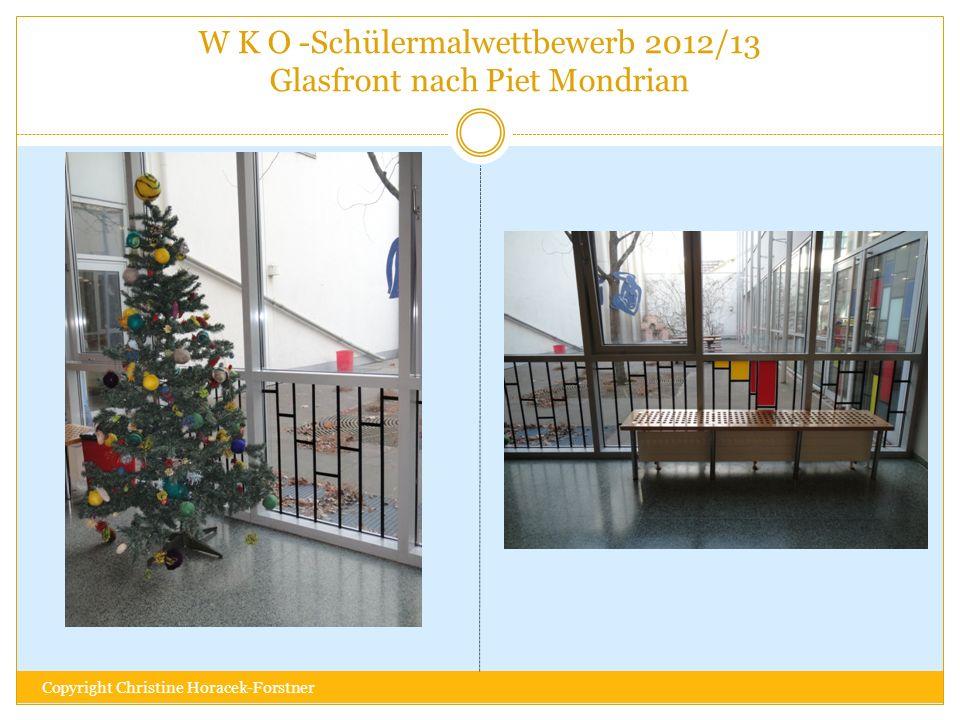 W K O -Schülermalwettbewerb 2012/13 Glasfront nach Piet Mondrian Copyright Christine Horacek-Forstner