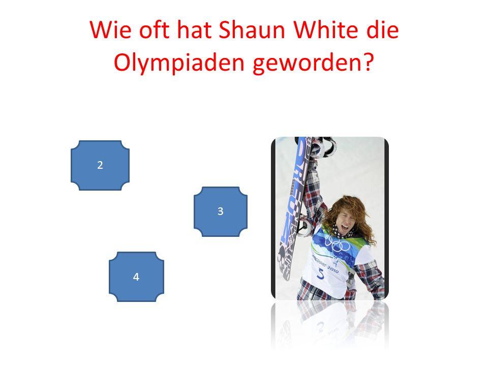 Wie oft hat Shaun White die Olympiaden geworden 2 4 3