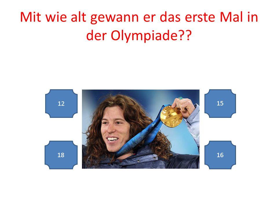 Mit wie alt gewann er das erste Mal in der Olympiade 12 16 15 18