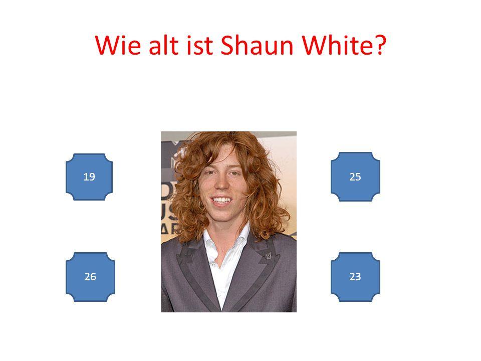 Wie alt ist Shaun White 19 2623 25