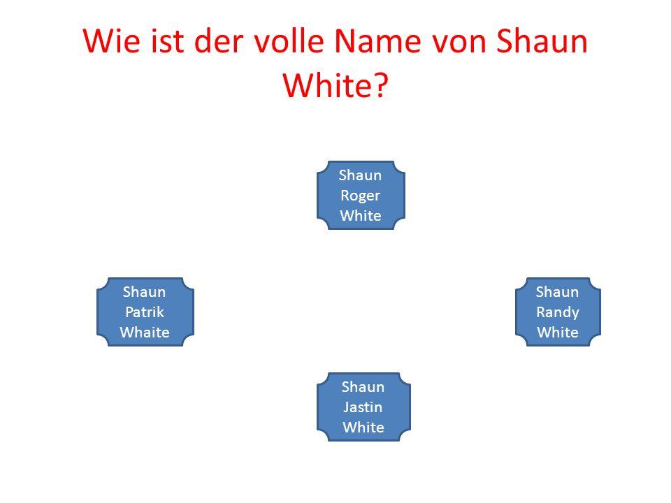 Wie ist der volle Name von Shaun White.