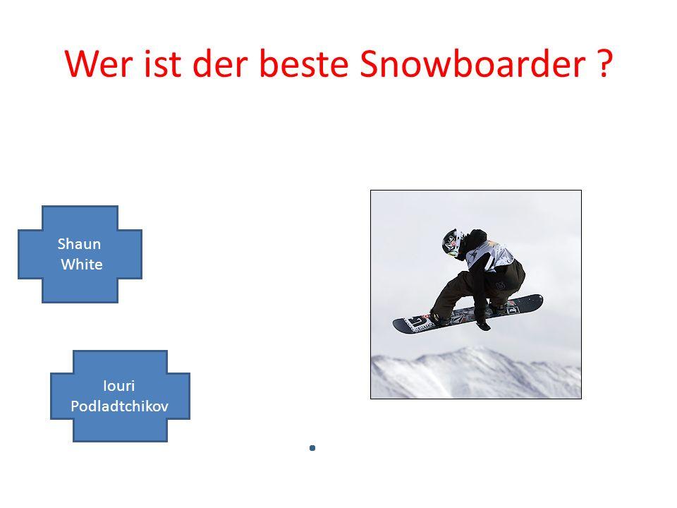 Wer ist der beste Snowboarder Shaun White Iouri Podladtchikov