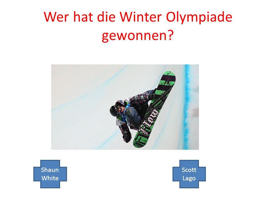 Wer hat die Winter Olympiade gewonnen Shaun White Scott Lago