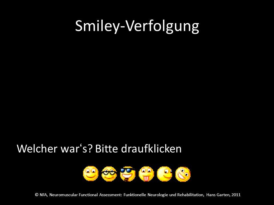 © NFA, Neuromuscular Functional Assessment: Funktionelle Neurologie und Rehabilitation, Hans Garten, 2011 Smiley-Verfolgung
