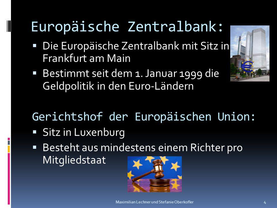 Europäische Zentralbank: Die Europäische Zentralbank mit Sitz in Frankfurt am Main Bestimmt seit dem 1. Januar 1999 die Geldpolitik in den Euro-Länder
