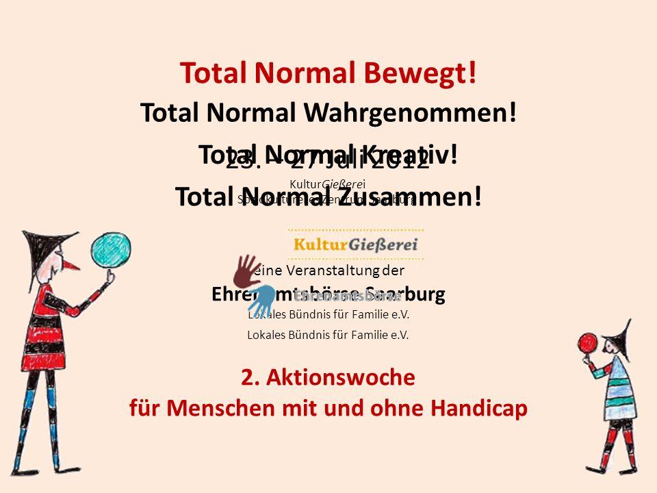 Total normal bewegt.2. Aktionswoche für Menschen mit und ohne Handicap 23.