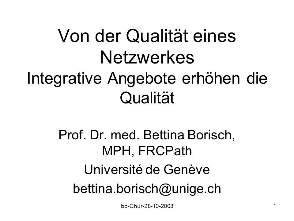 bb-Chur-28-10-20081 Von der Qualität eines Netzwerkes Integrative Angebote erhöhen die Qualität Prof.