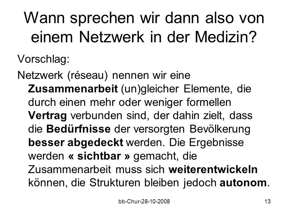 bb-Chur-28-10-200813 Wann sprechen wir dann also von einem Netzwerk in der Medizin.
