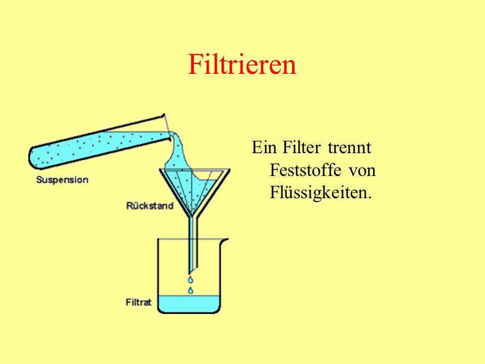 Destillieren (Destillation) Rotwein ist ein Gemenge aus Alkohol und Wasser.