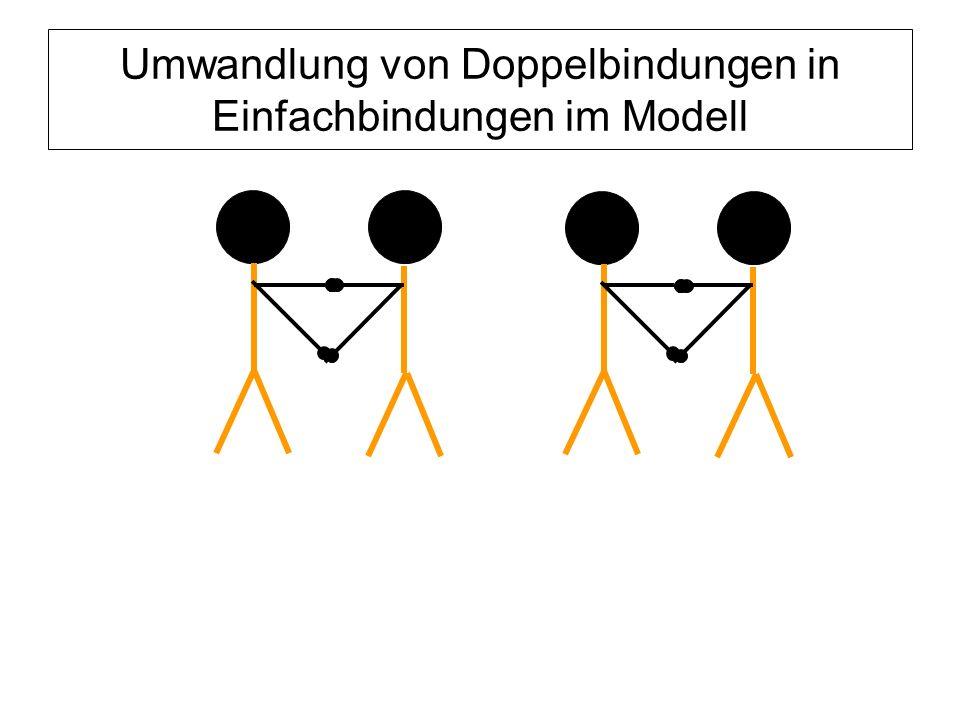 Umwandlung von Doppelbindungen in Einfachbindungen im Modell