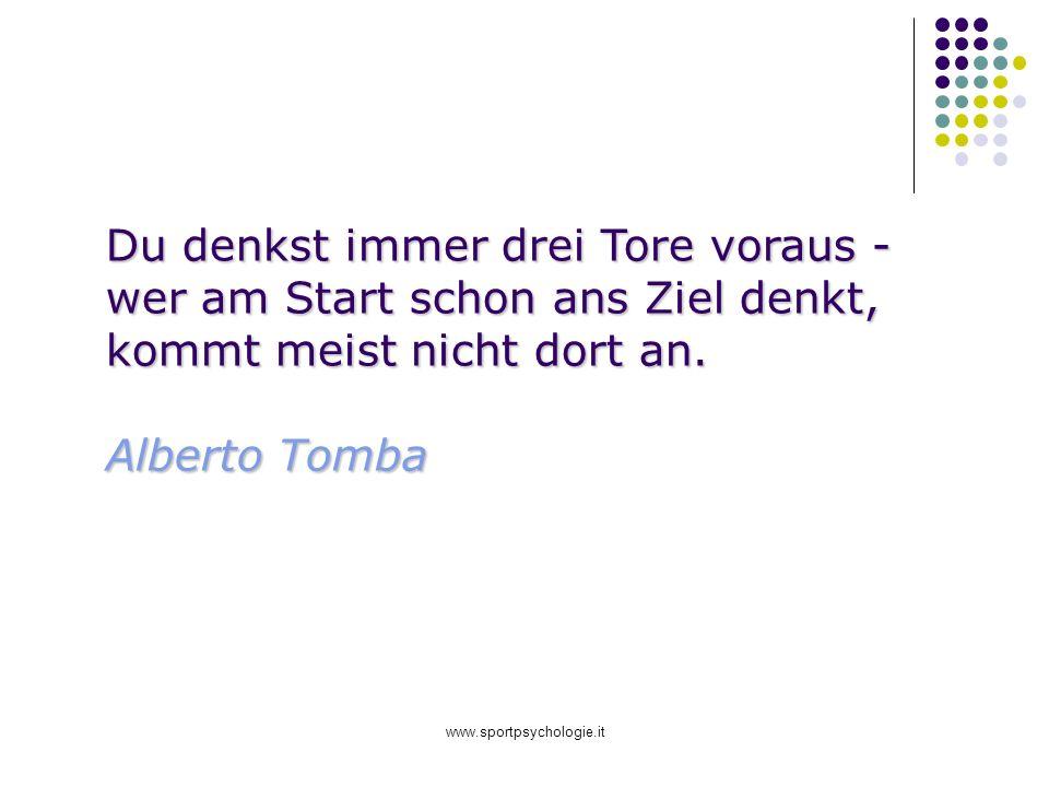 www.sportpsychologie.it Du denkst immer drei Tore voraus - wer am Start schon ans Ziel denkt, kommt meist nicht dort an. Alberto Tomba Alberto Tomba