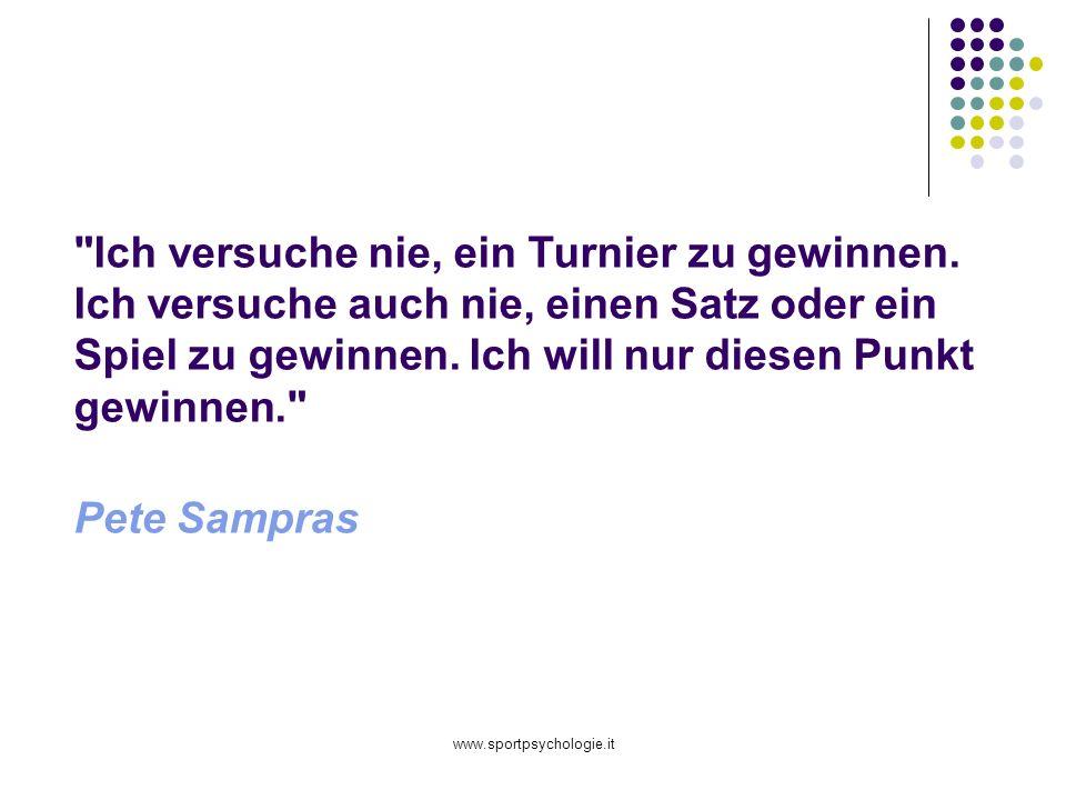 www.sportpsychologie.it Ich versuche nie, ein Turnier zu gewinnen.
