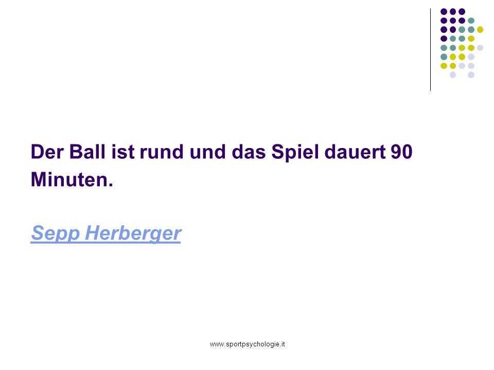 www.sportpsychologie.it Der Ball ist rund und das Spiel dauert 90 Minuten. Sepp Herberger Sepp Herberger