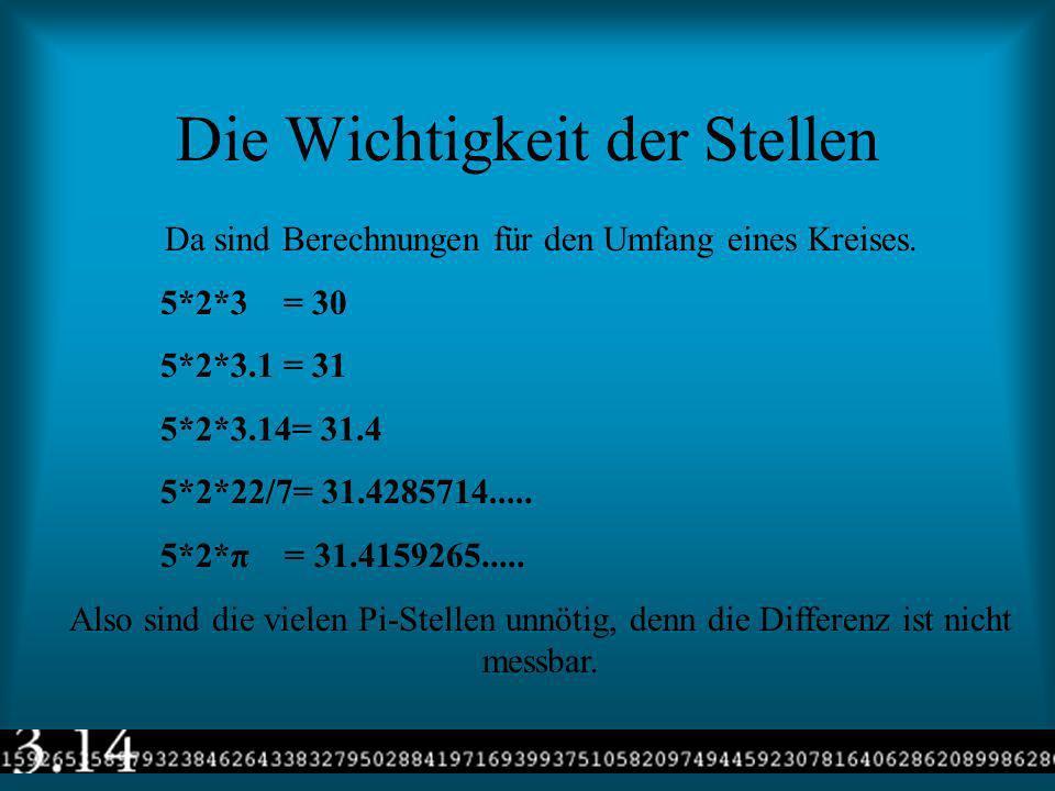 Die Formeln mit PI Hier sind die Erklärungen der Variablen. r= Radius O= Oberfläche V= Volumen u= Umfang A= Fläche Und hier sind die Formeln u= 2*r* π