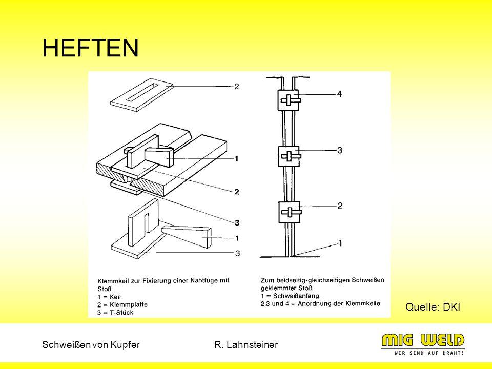 Schweißen von KupferR. Lahnsteiner HEFTEN Quelle: DKI