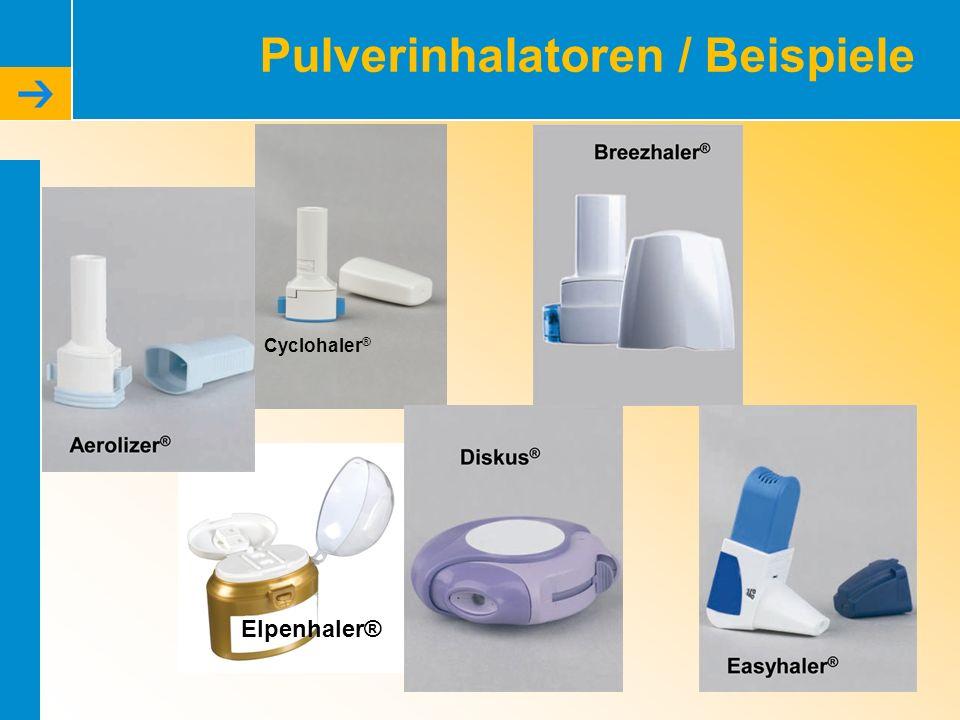 Pulverinhalatoren / Beispiele Cyclohaler ® Elpenhaler®