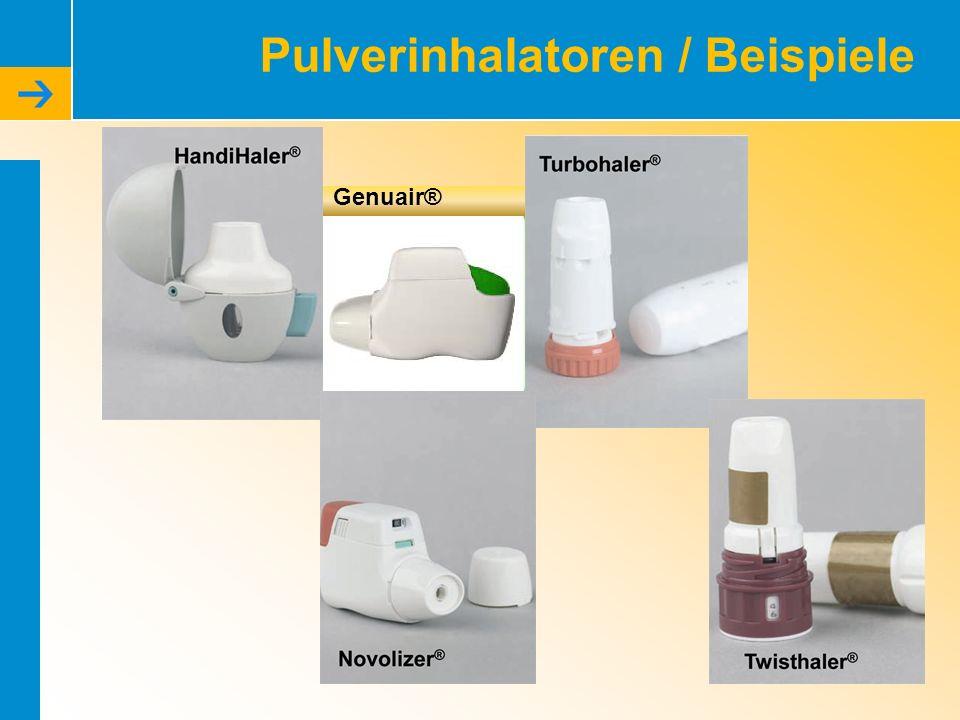 Pulverinhalatoren / Beispiele Genuair®